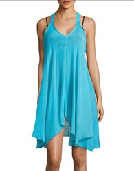 J Valdi Textured Cover Up Dress Turquoise