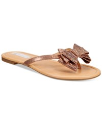Inc International Concepts Women's Mabae Bow Flat Sandals Only At Macy's Women's Shoes Copper