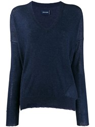 Zadig And Voltaire V Neck Sweater Blue