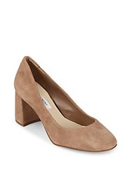 Saks Fifth Avenue Galent High Heel Leather Pumps Wheat
