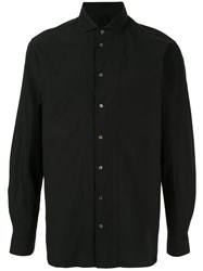 Forme D'expression Ribbed Detail Button Up Shirt Black