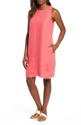Tommy Bahama Two Palms Frayed Trim Shift Dress Teaberry