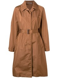 Bottega Veneta Belted Trench Coat Brown