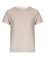Saint Laurent Relaxed Fit Cotton T Shirt Light Pink