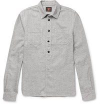 The Workers Club Slub Cotton Blend Shirt Gray