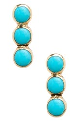 Zoe Chicco Women's Turquoise Stud Earrings