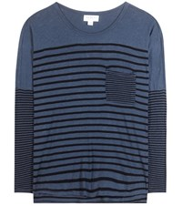 Velvet Ario Striped Top Blue