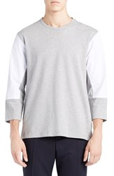 Marni Men's Mixed Media Colorblock T Shirt