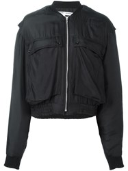 Katharine Hamnett Patch Pocket Bomber Jacket Black