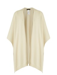 The Row Hern Cashmere Poncho Ivory