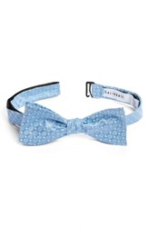 Calibrate Men's Forget Me Not Medallion Silk Bow Tie