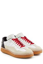 Alexander Wang Leather And Suede Sneakers Multicolor