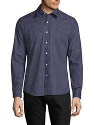 Hyden Yoo Printed Slim Fit Cotton Button Down Shirt Nanvy Pais