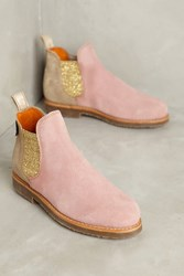 Anthropologie Penelope Chilvers Patchwork Safari Chelsea Boots Pink