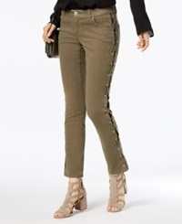 Inc International Concepts Lace Up Skinny Jeans Created For Macy's Olive Drab