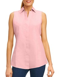 Foxcroft Solid Sleeveless Top Chambray