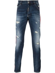 Philipp Plein Super Straight Cut Jeans Blue