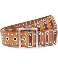 Paige Gemma Leather Belt Tan