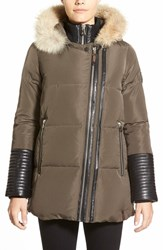 Women's Rudsak 'Cally' Leather And Genuine Coyote Fur Trim Down Coat