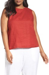 Eileen Fisher Plus Size Women's Organic Linen Shell Serrano