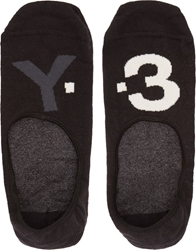 Y 3 Black And White Logo Ankle Socks