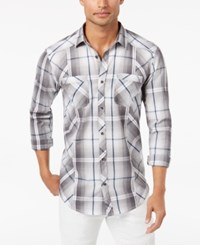 Inc International Concepts Men's Plaid Shirt Created For Macy's White Pure