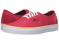 Vans Authentic 2016 Games Summer 2016 Red Black Gold Skate Shoes