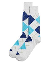 Bloomingdale's The Men's Store At Argyle Cotton Blend Dress Socks Light Gray