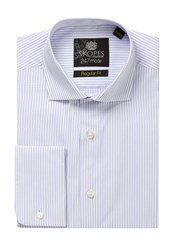 Skopes Men's 24 7 Mode Collection Formal Shirt Blue