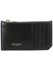 Saint Laurent Classic Fragments Zip Pouch Black