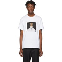 Neil Barrett White Album Cover T Shirt