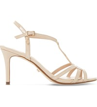 Dune Miniee Strappy Heeled Sandals Nude Patent