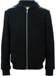 Msgm Zip Up Hoodie Black