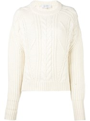 Carven Cable Knit Jumper White