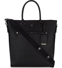 Mcm Markus Medium Grained Leather Tote Black