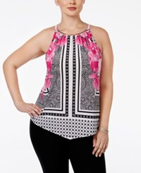 Inc International Concepts Plus Size Printed Halter Top Only At Macy's Placed Floral