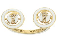 Vivienne Westwood Iona Ring White Enamel Light Ring Gold