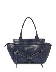 Botkier Trigger Small Leather Satchel Midnight Blue