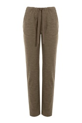Closed Sweatpants With Wool Green