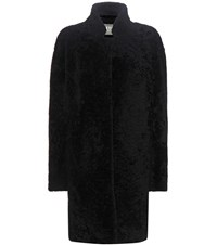Yves Salomon Shearling Coat Black