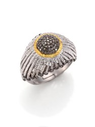 Coomi Silver Diamond 20K Yellow Gold And Sterling Silver Ring Silver Gold