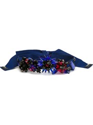 Msgm Embellished Belt Blue