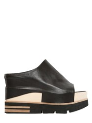 Elena Iachi 100Mm Leather And Wood Wedges