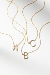 Anthropologie Delicate Monogram Necklace Gold