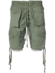 Greg Lauren Cargo Shorts Green