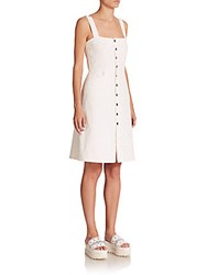 Peserico Embroidered Button Front Dress Snow