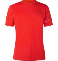 Salomon Agile Mesh Panelled Ripstop Activedry T Shirt Red