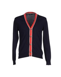 Hackett Knitwear Cardigans Men Dark Blue