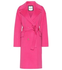 Kenzo Wool And Cashmere Coat Pink