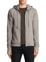 Allsaints Lino Cotton Hoodie Putty Brown